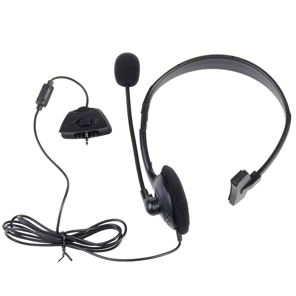 XBOX 360 Black Headphone Wired Premium Microphone Heads