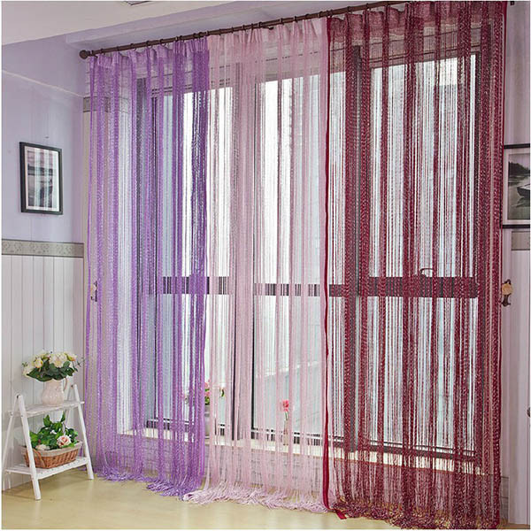 Glitter Tassel String Line Door Window Curtain Room Divider Screen Decor