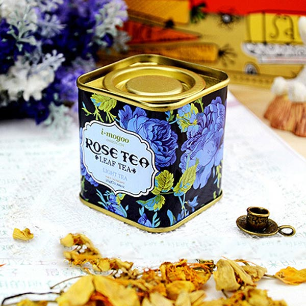 European Vintage Flower Tea Tin Box Candy Box Wedding Gift Case Container Organization