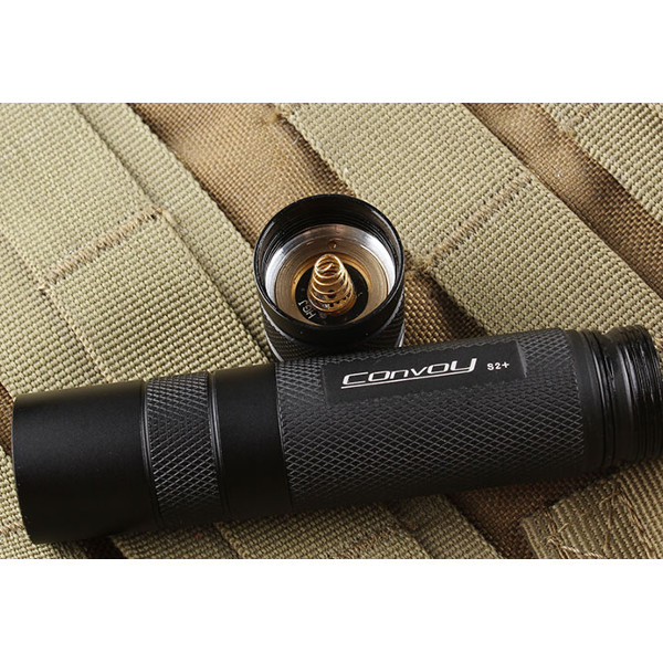 Convoy S2+ Black L2 7135x8 3/5mode EDC LED Flashlight 18650