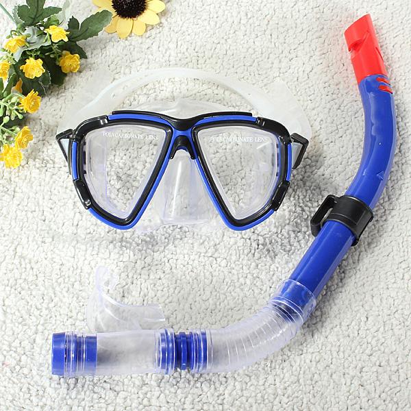Swimming Diving Equipment Dive Mask + Dry Snorkel Set