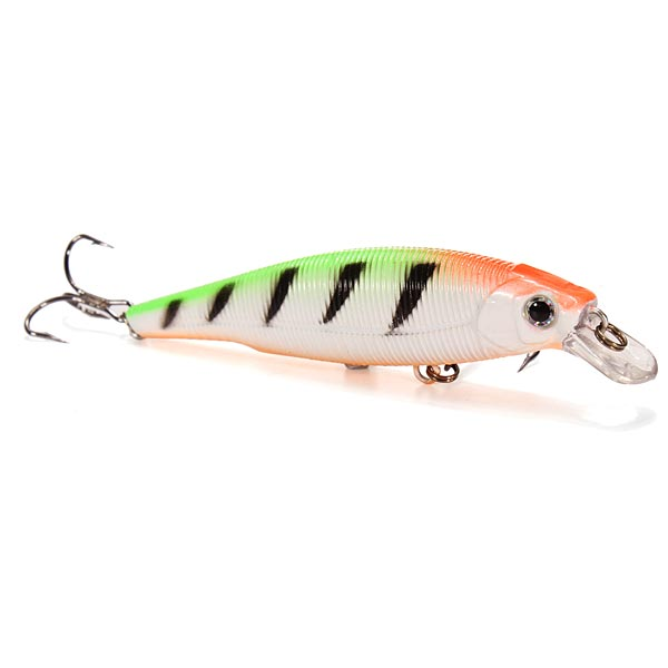 ZANLURE 70mm/8g Minnow Plastic Hard Bait Bass Fishing Lures Artificial Bait
