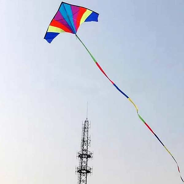 10M Super Nylon Rainbow Kite Tail Line Sports Kite Accessory