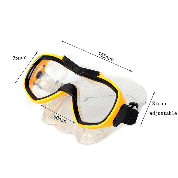 Scuba Diving Mask Hardlex Glass Lens Swimming Goggles