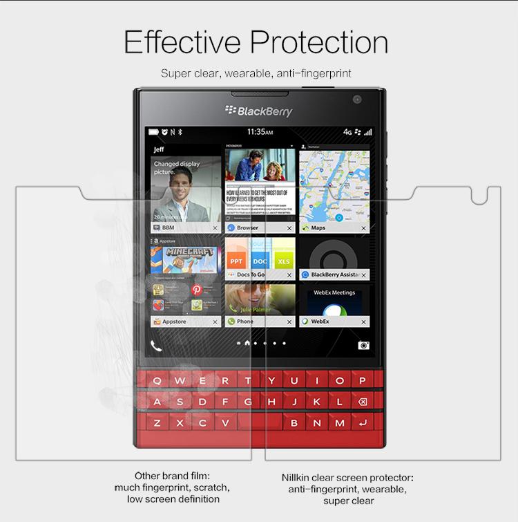 NILLKIN Super Clear Anti-fingerprint Film For BlackBerry Passport