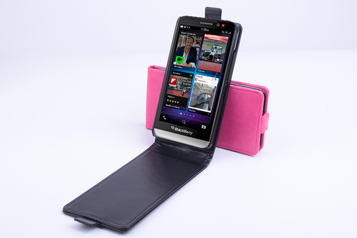 Flip Up And Down PU Leather Case Cover For Blackberry Z30