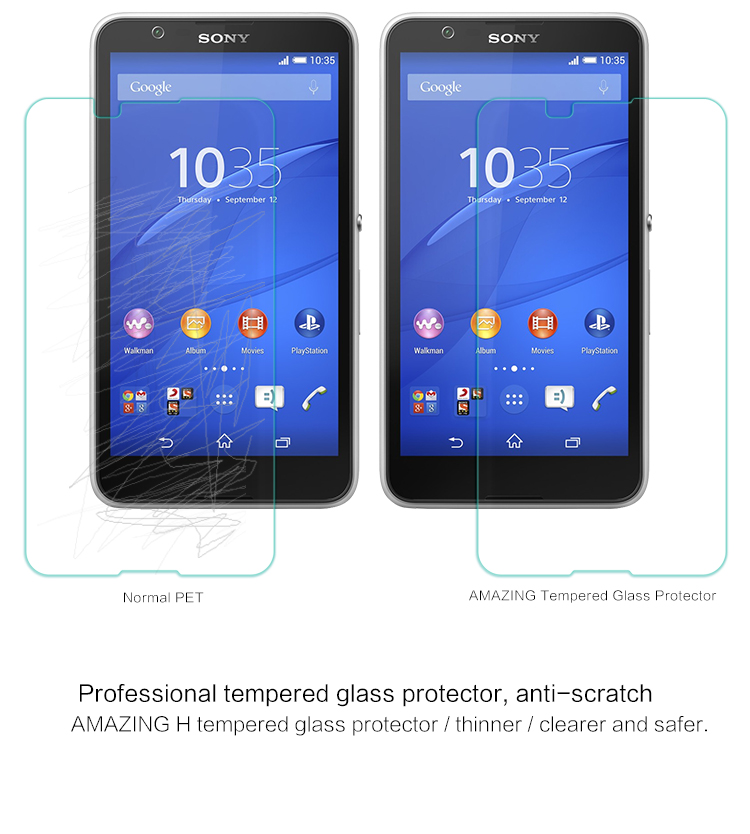 NILLKIN H Anti-Explosion Glass Screen Protector For Sony Xperia E4