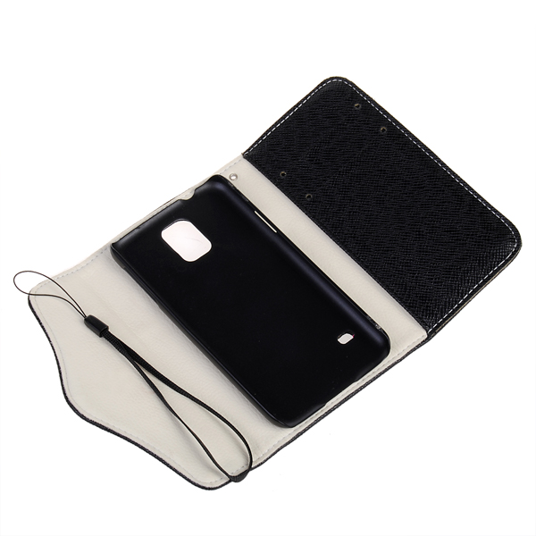 Zipper PU Leather Protective Case For Samsung Galaxy S5 I9600