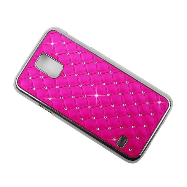 Crystal Inlaid PC Back Protective Case For Samsung Galaxy S5 i9600