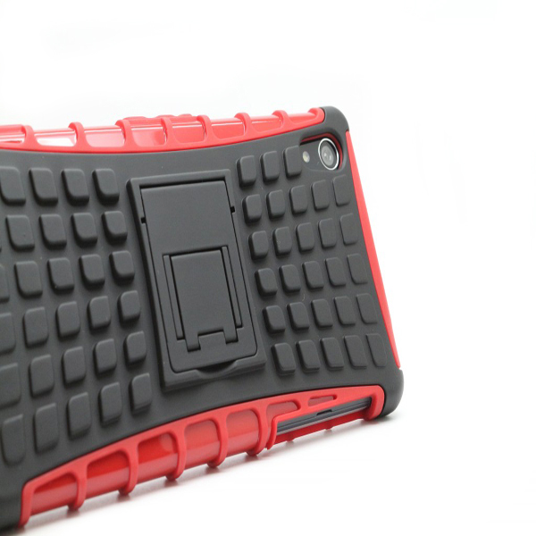 Double Color Robot Stents Protective Back Case Cover For SonyZ2