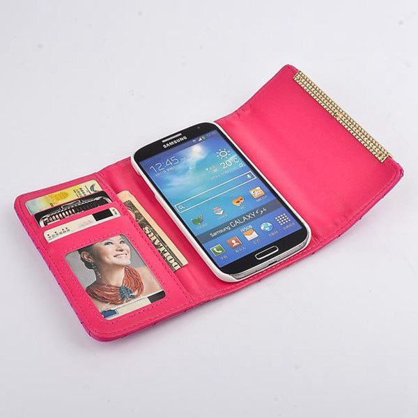Bowknot Flip Card Slot Wallet Case For Samsung Galaxy S4 i9500