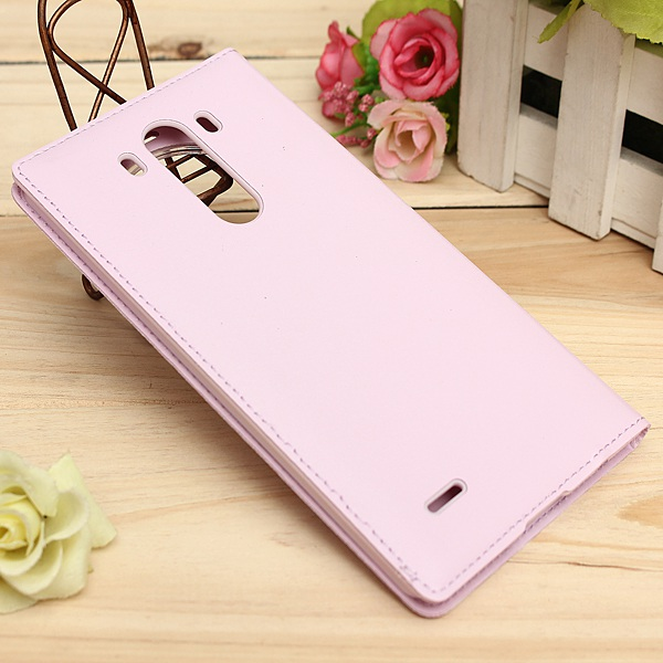 Filp PU Smart Leather Case With Open Window For LG G3 Smartphone