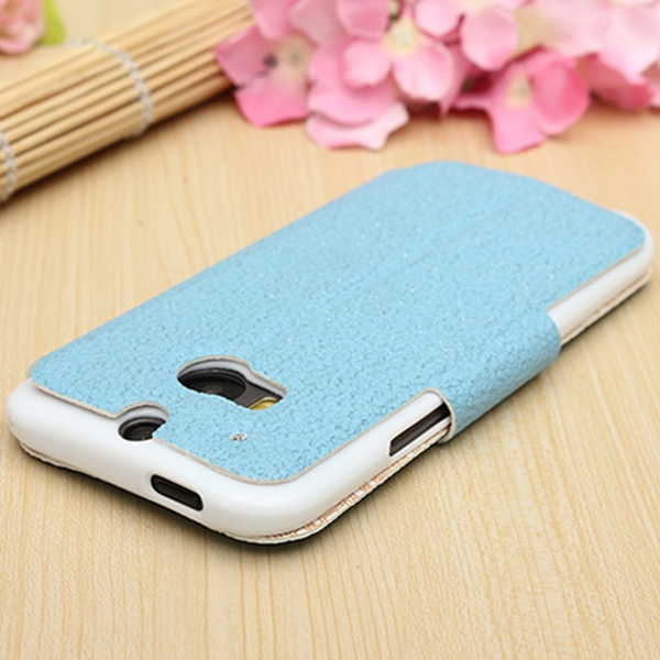 Magnetic View Window Flip Leather Case For HTC One M8