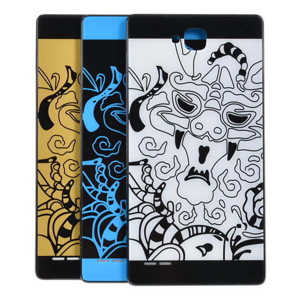 Dragon Tempered Glass Back Cover Case For Huawei Honor 3C
