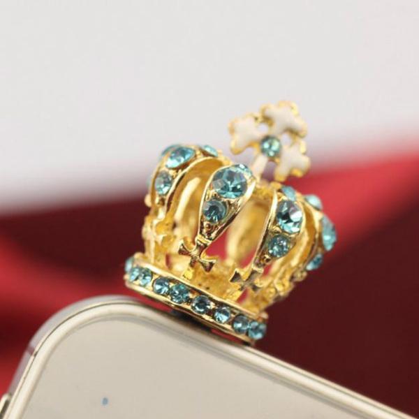 3.5mm Cute Diamond Headphone Jack Dustproof Plug Random Delivery