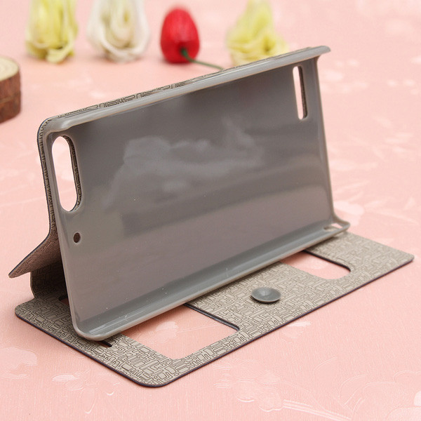 Flip Sucker View Window Leather Cover Case For Huawei Ascend G6