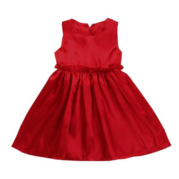 Girls Summer Beach Silk Satin Princess Dress Baby Sundress