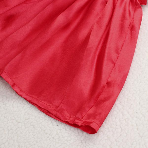 Girls Summer Beach Silk Satin Princess Dress Baby Sundress