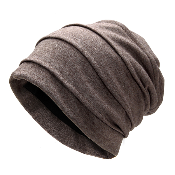 Men Autumn Soft Cotton Warm Skullies Beanies Hat