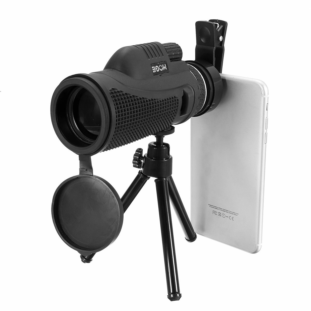 40x60 Monocular Ultra HD Optical Lens Low Light Night Vision Telescope + Clip + Tripod For Phone
