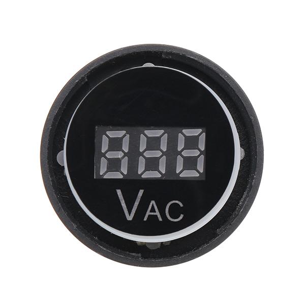 Machifit 3pcs 22mm Digital Voltmeter AC 20-500V Voltage Meter Gauge Digital Display Indicator Lamp