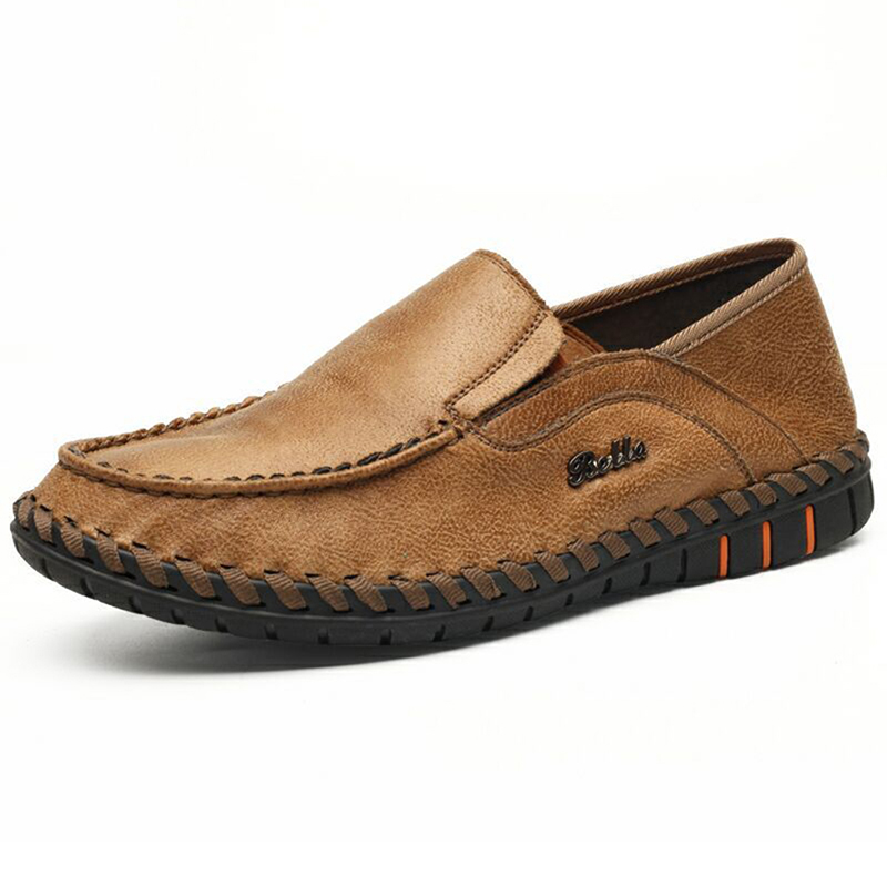 Men Knitted Sewing Casual Flats