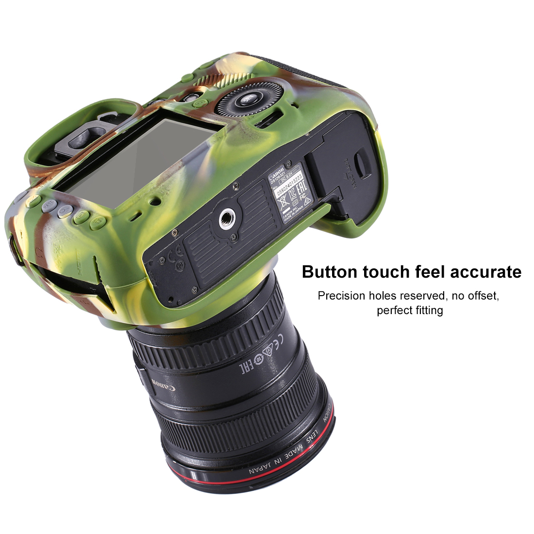 PULUZ PU7102 Soft Silicone Protective Case for Canon EOS 5D Mark III 5D3 DSLR Camera