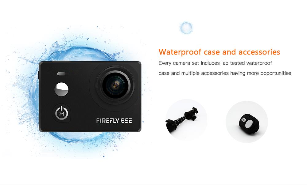 Hawkeye Firefly 8SE 4K 90 Degree / 170 Degree Touch Screen FPV Action Camera Ver2.1