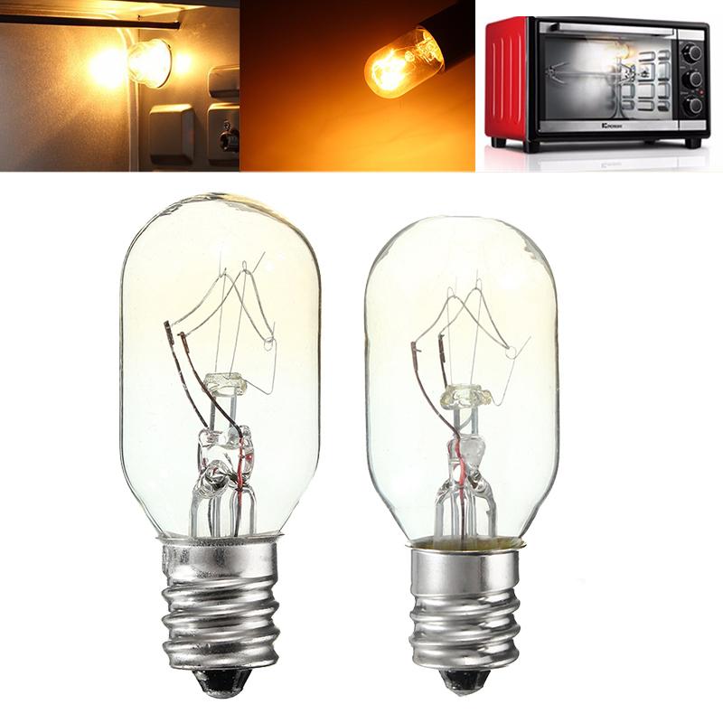 15W/25W 120V E12 Incandescent Glass Light Bulb Refrigerator Salt Oven Lamp
