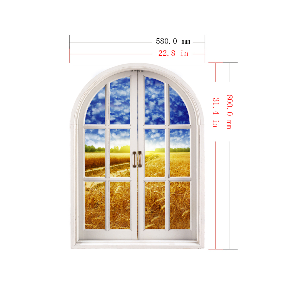 Cornfield View PAG 3D Artificial Window 3D Wall Decals Room Stickers Home Wall Decor Gift