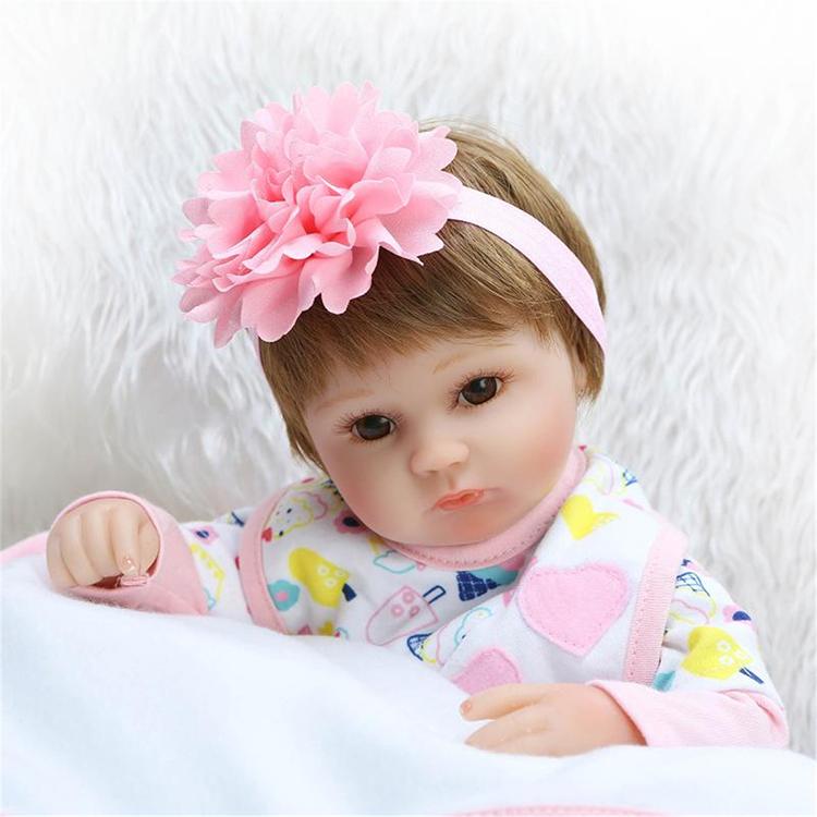16inch Reborn Baby Doll Handmade Lifelike Girl Play House Toy