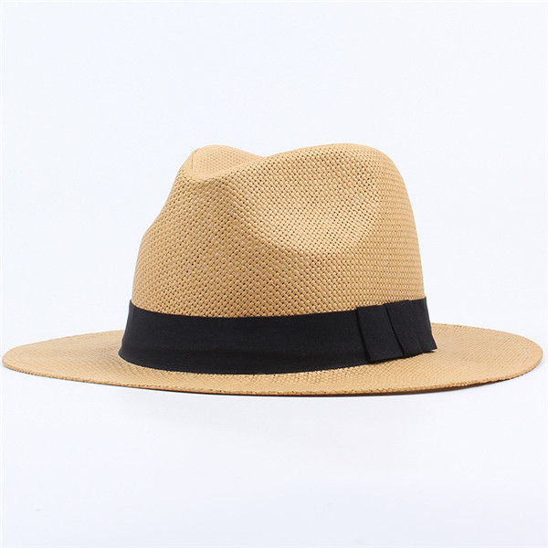Men Women Classic Beach Sun Wide Brim Panama Straw Hat