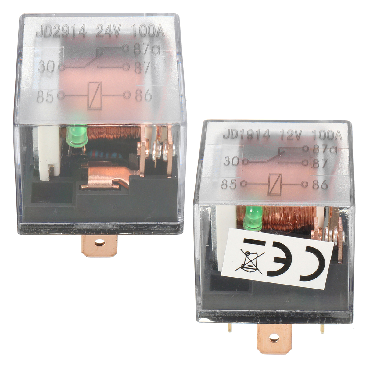 100a 12v 24v 5 Pins Relay And Hardness Socket Spdt Control 5a Device