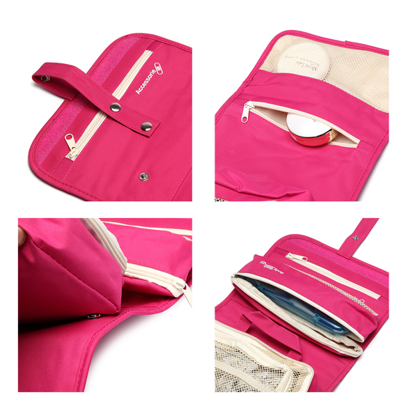 Woman Nylon Waterproof Travel Storage Bag Cosmetic Bag Crossboby Bag