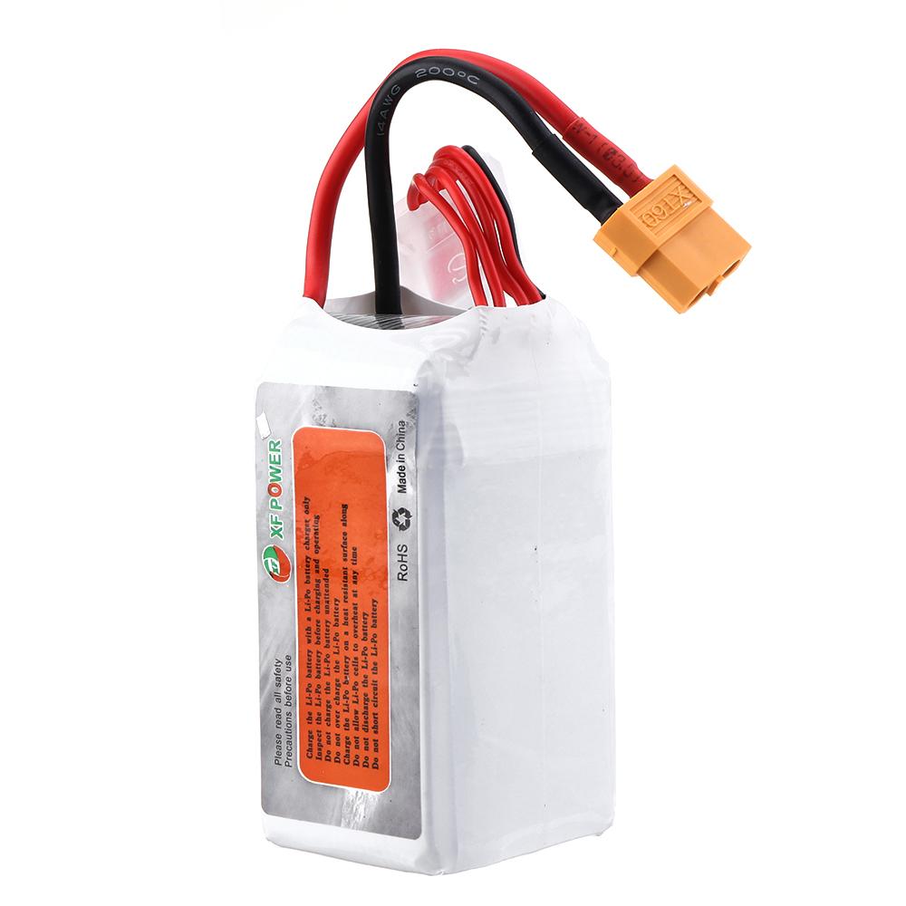 XF POWER 18.5V 1500mAh 75C 5S Lipo Batterie XT60 Fiche pour FPV Racing Drone
