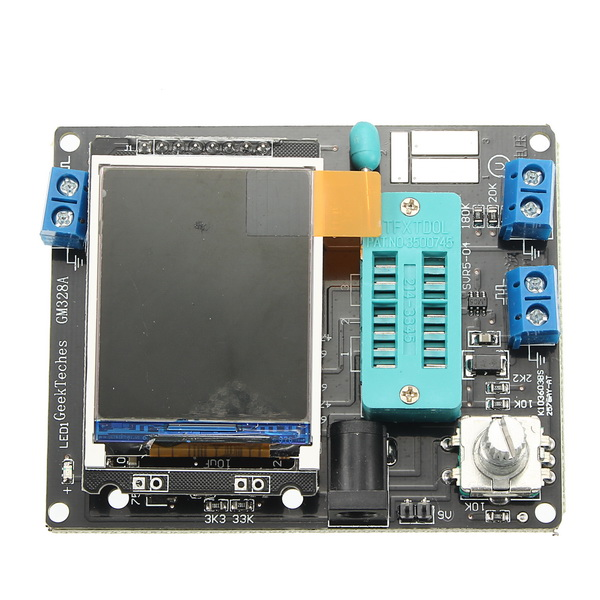 GeekTeches LCD GM328A Transistor Tester Diode ESR Meter PWM Square Wave Generator