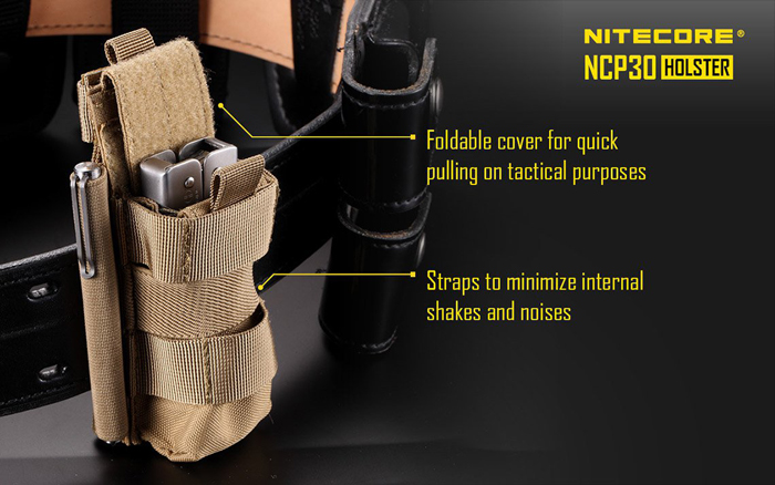 Nitecore NCP30 Durable Nylon Multifunction Holster 5.51''x1.97''x1.77'' (Flashlight Accessories