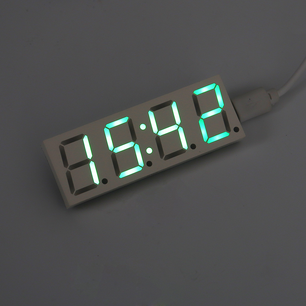 DS3231 DC5V 40mA 0.2W High Precision IIC RTC and TCXO Power-off Memory 0.8-Inch LED Electronic Clock