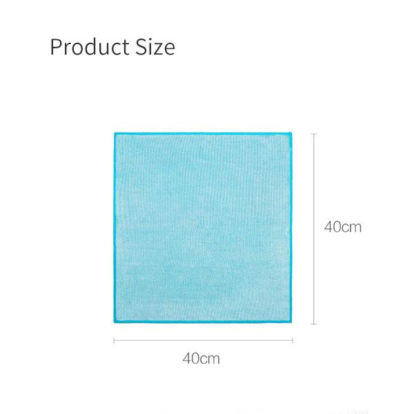 XIAOMI JIEZHI 5PCS Microfiber Non-marking Scouring Rags Scouring Cloths 5pcs/Set No Water Marks Glass Cleaning Cloths