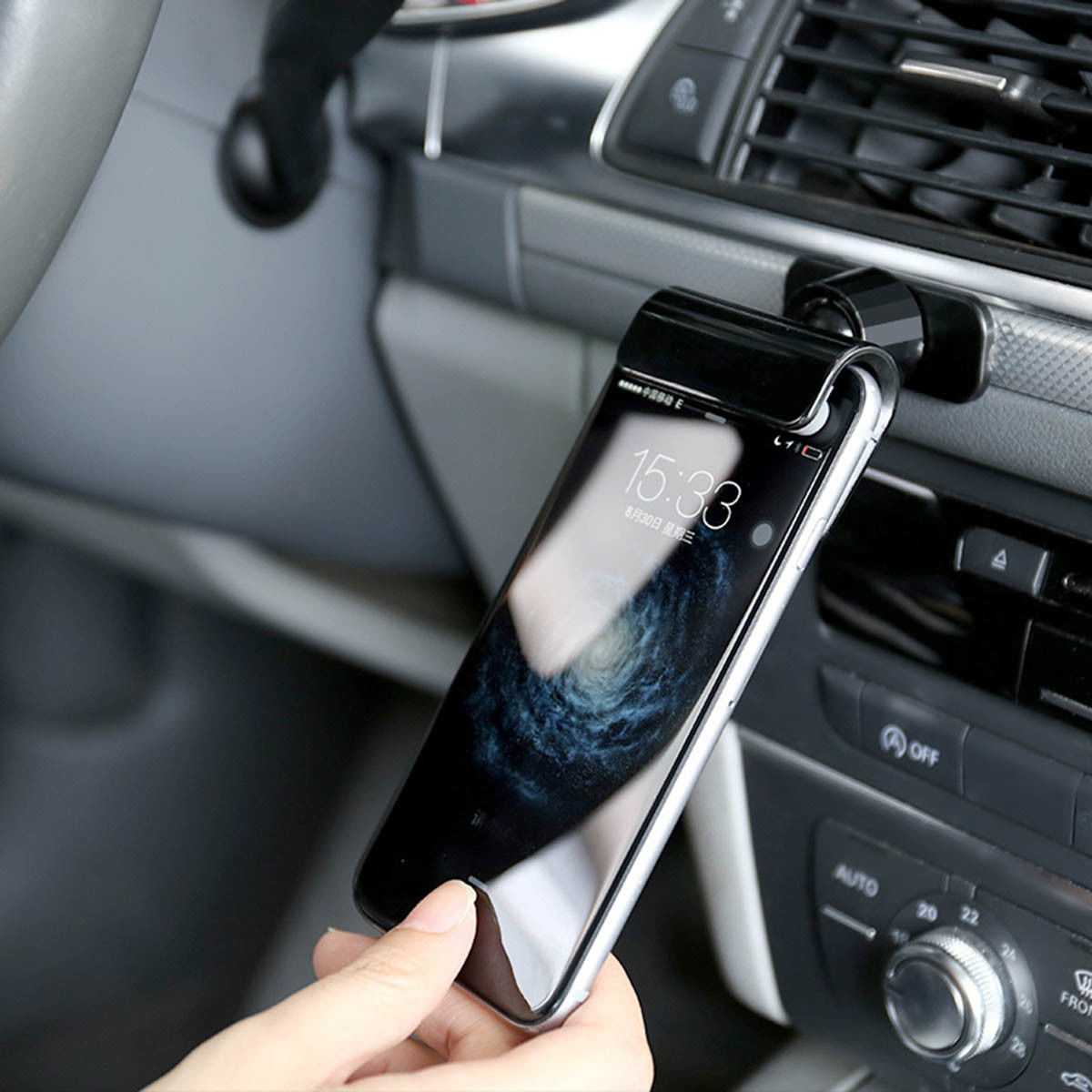 Car Gravity Phone Clip Holder Dashboard Adhesive Tape Mount Stand Universal for iPhone XS XR