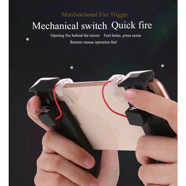3 In 1 Multi-function Stretchable Gamepad Game Controller for PUBG Joystick Fire Trigger for Mobile Game