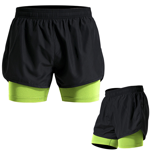 Summer Mens Outdooors Sports Causal Shorts Hit Color Gym Running Quick Drying Fitness Shorts