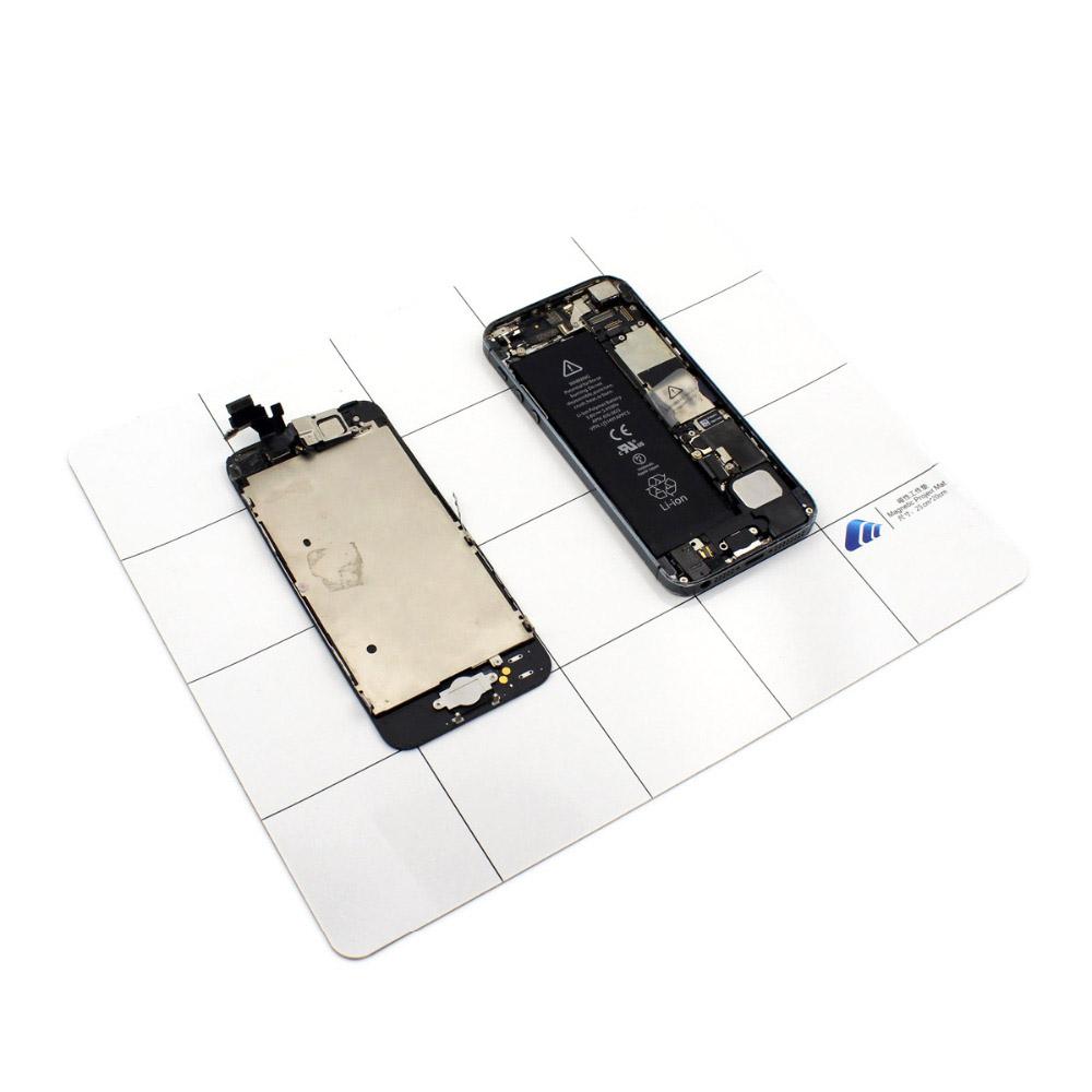 FUNFIX 25x20cm Magnetic Project Mat Magnetic Screw Pads Phone Notebook Repair Tool