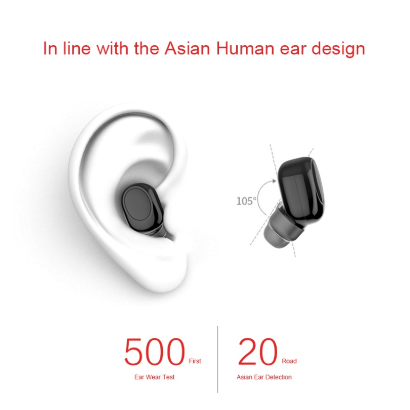X11 Mini Wireless bluetooth Earphone Portable Handsfree Invisible Earbud with Magnetic USB Charger