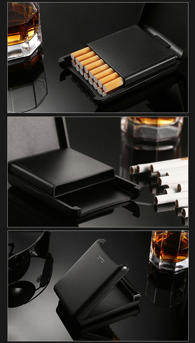 Zobo Automatic Cigarette Box Practical Business Case Double Layer Cigarette Holder Organizer