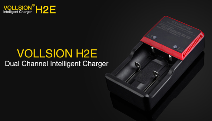 VOLLSION H2E Dual Channel Intelligent Battery Charger For Li-ion IMR LifeP04 Ni-MH Ni-CD