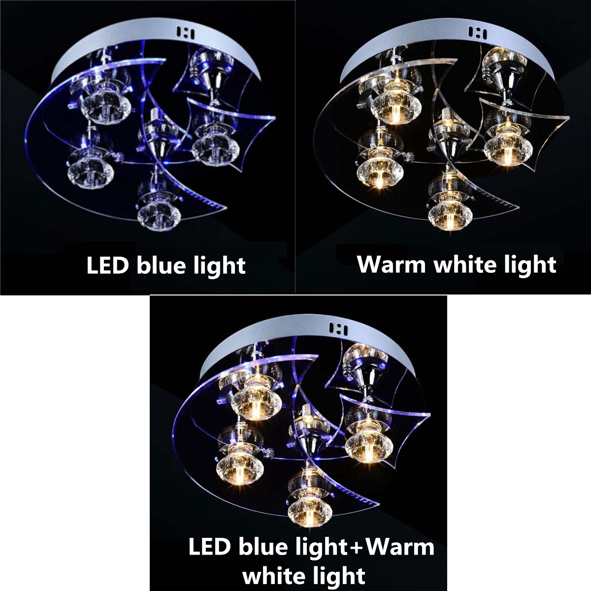 Retro Dining Room Crystal Chandelier Ceiling LED Light Pendant Moon Star Lights