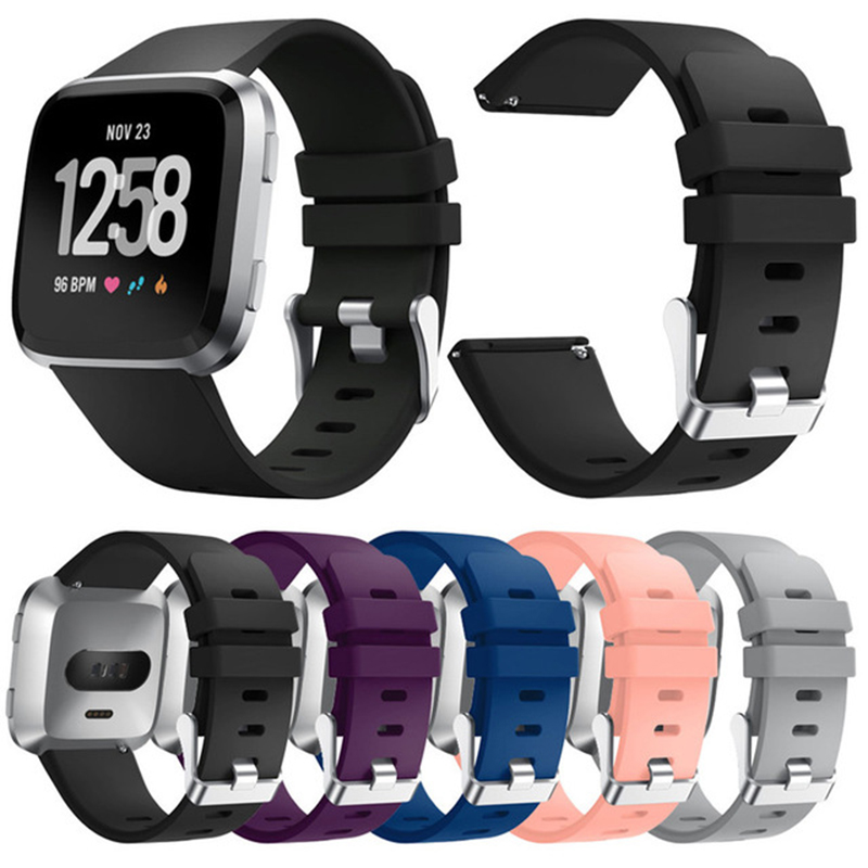 22.5mm Colorful Silicone Watchtband For Fitbit Versa