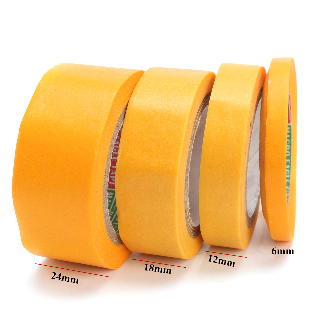 4Pcs Yellow DIY Craft Paint Masking Tape for Modeler Car Model Tool