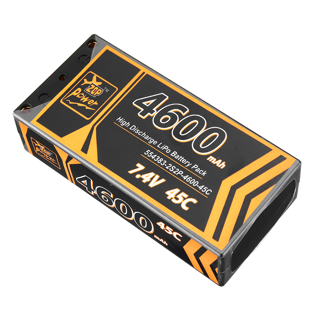ZOP Power 7.4V 4600mAh 45C 2S Lipo Battery T Plug for RC Car - Photo: 2
